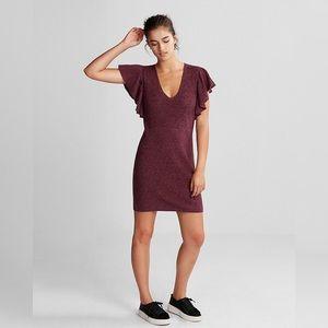 Express Flutter Scoop Neck Dress